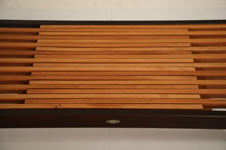Extendable Slatted Wood Bench or Coffee Table by Maruni, 1950s Hiroshima Japan For Sale 8