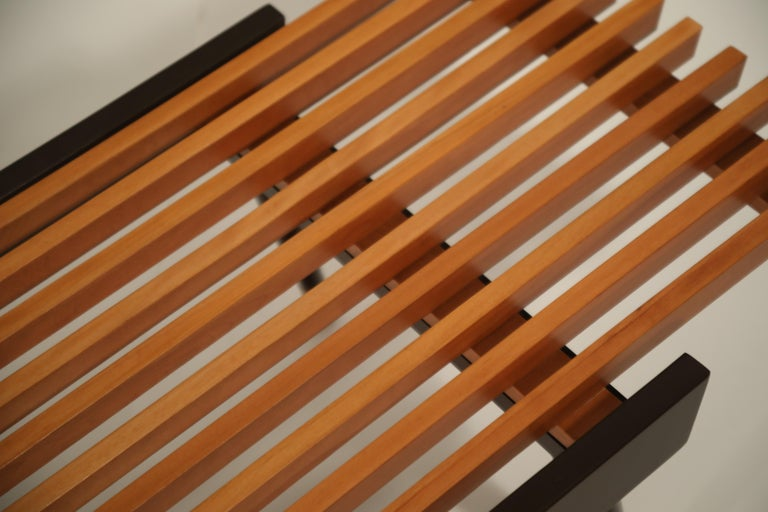 Extendable Slatted Wood Bench or Coffee Table by Maruni, 1950s Hiroshima Japan For Sale 10