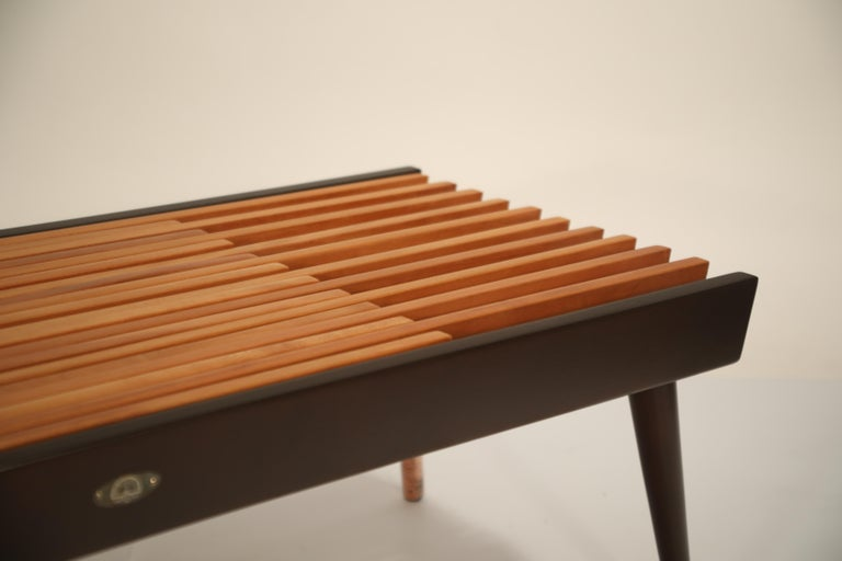 Extendable Slatted Wood Bench or Coffee Table by Maruni, 1950s Hiroshima Japan For Sale 12