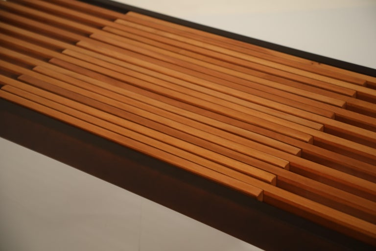 Extendable Slatted Wood Bench or Coffee Table by Maruni, 1950s Hiroshima Japan For Sale 13