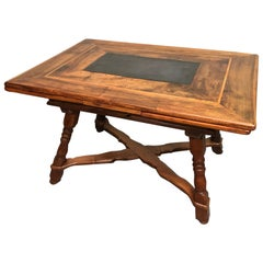 Extendable Swiss Farm Dining Table from the Baroque Period, 18th C