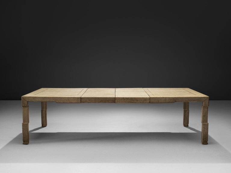 Mid-Century Modern Extendable Table of Goatskin for Italy, 1930s