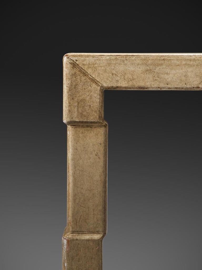 Mid-20th Century Extendable Table of Goatskin for Italy, 1930s