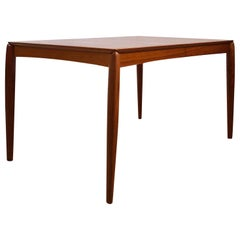 Extendable Teak Dining Table by H.W. Klein for Bramin
