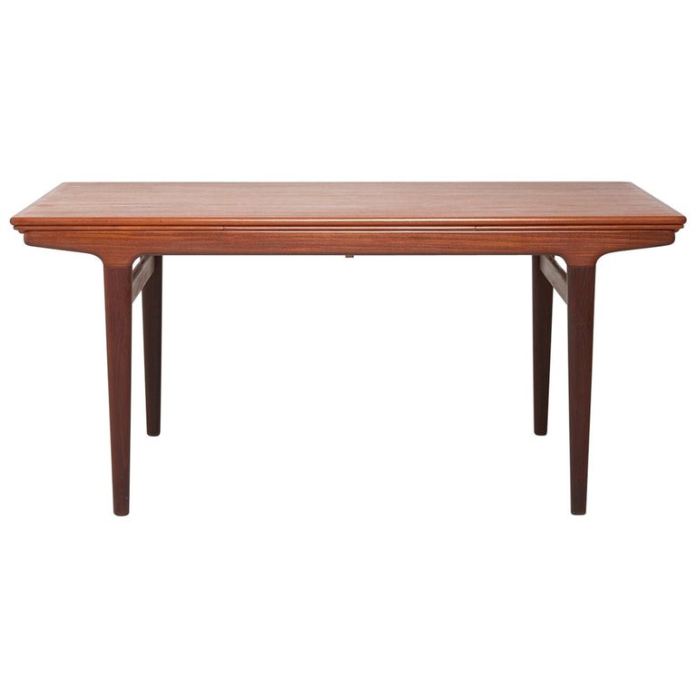 Teak Extendable Coffee Table: Extendable Teak Dining Table By Johannes Andersen For