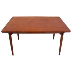 Extendable Teak Dining Table, Danish Design, 1960s
