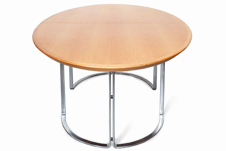 Mid-Century Modern Extendable Walnut Table by Horst Bruning for Kill International, 1970s For Sale