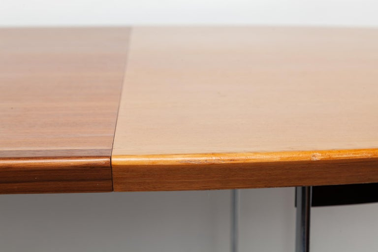 Extendable Walnut Table by Horst Bruning for Kill International, 1970s For Sale 1