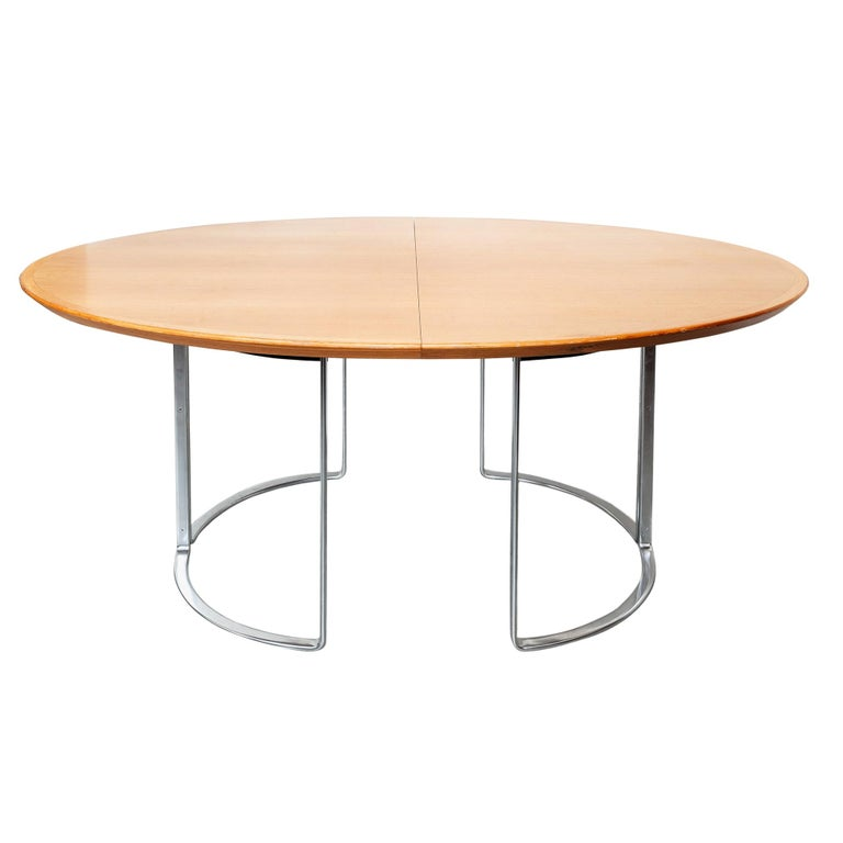 Extendable Walnut Table by Horst Bruning for Kill International, 1970s For Sale