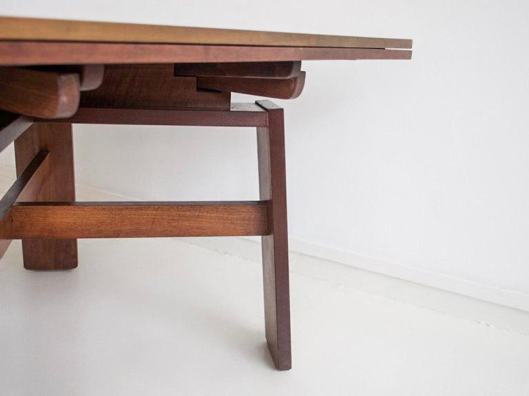 Extendable Walnut Table by Silvio Coppola for Bernini, Model 612 For Sale 4