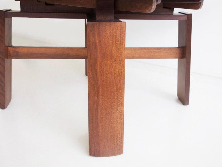 Extendable Walnut Table by Silvio Coppola for Bernini, Model 612 For Sale 7