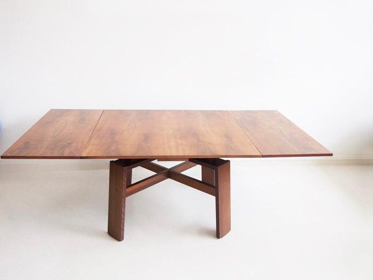 Extendable Walnut Table by Silvio Coppola for Bernini, Model 612 For Sale 11