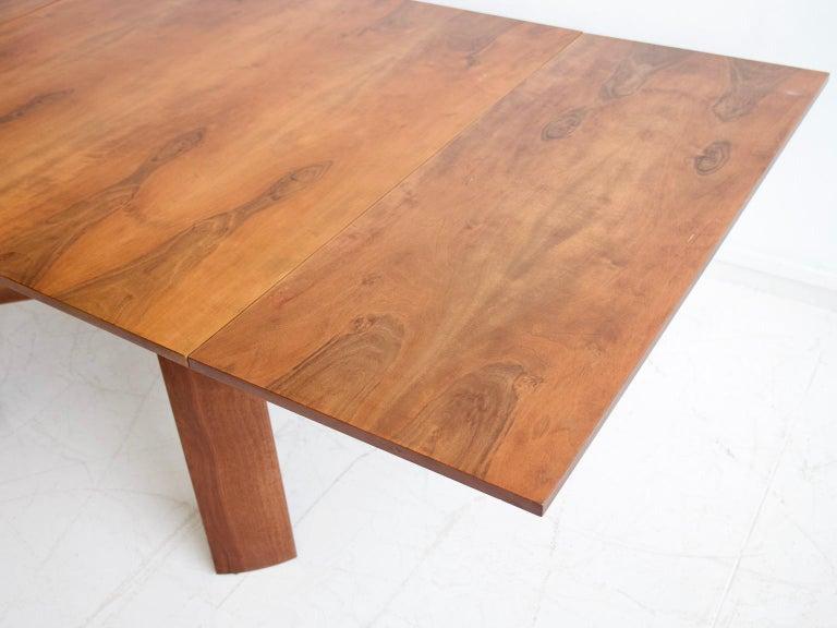 Extendable Walnut Table by Silvio Coppola for Bernini, Model 612 For Sale 13
