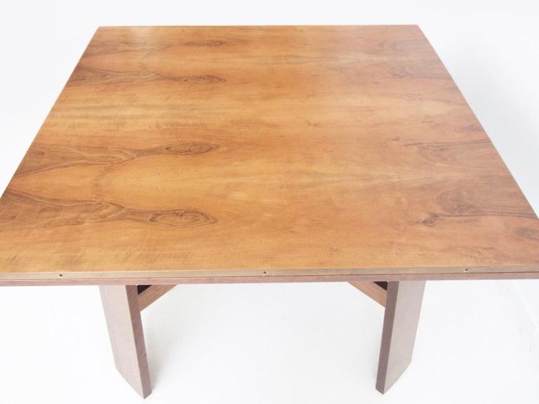 Italian Extendable Walnut Table by Silvio Coppola for Bernini, Model 612 For Sale
