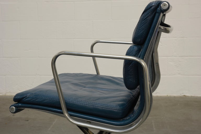 Extended Height Soft Pad Desk Chair by Charles Eames for Herman Miller, Signed For Sale 10