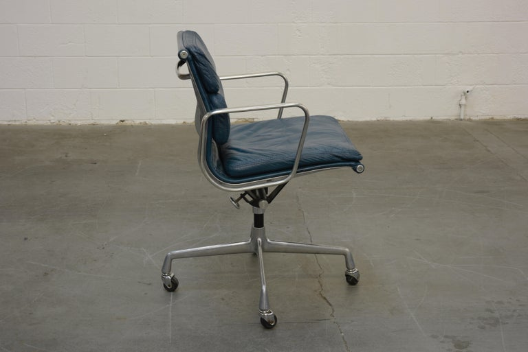 American Extended Height Soft Pad Desk Chair by Charles Eames for Herman Miller, Signed For Sale
