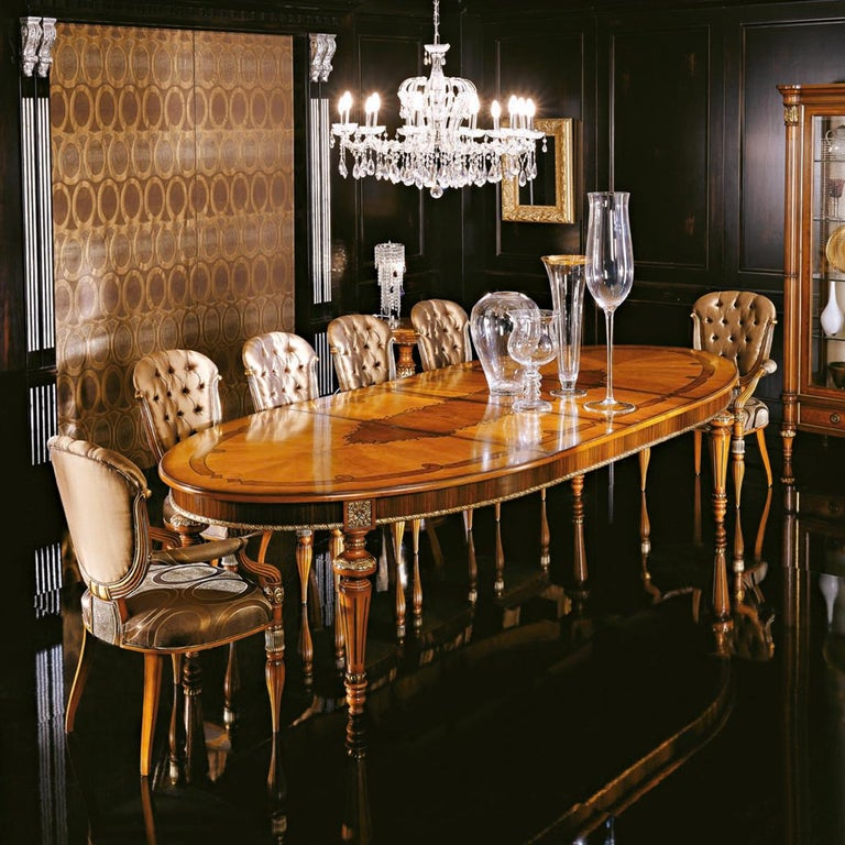 Modern Extendible Oval Table For Sale