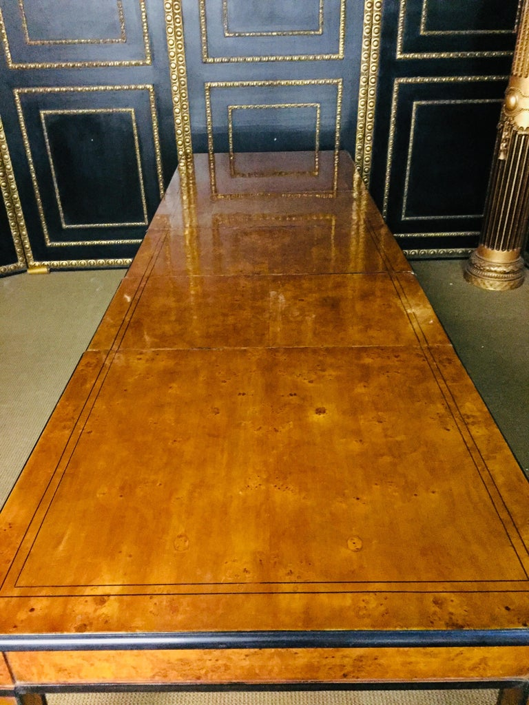 Extending Table in Biedermeier Style Bird's-Eye Maple For Sale 3
