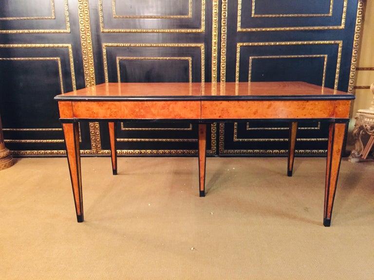 Extending Table in Biedermeier Style Bird's-Eye Maple For Sale 7