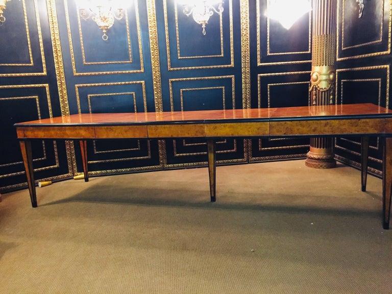 German Extending Table in Biedermeier Style Bird's-Eye Maple For Sale