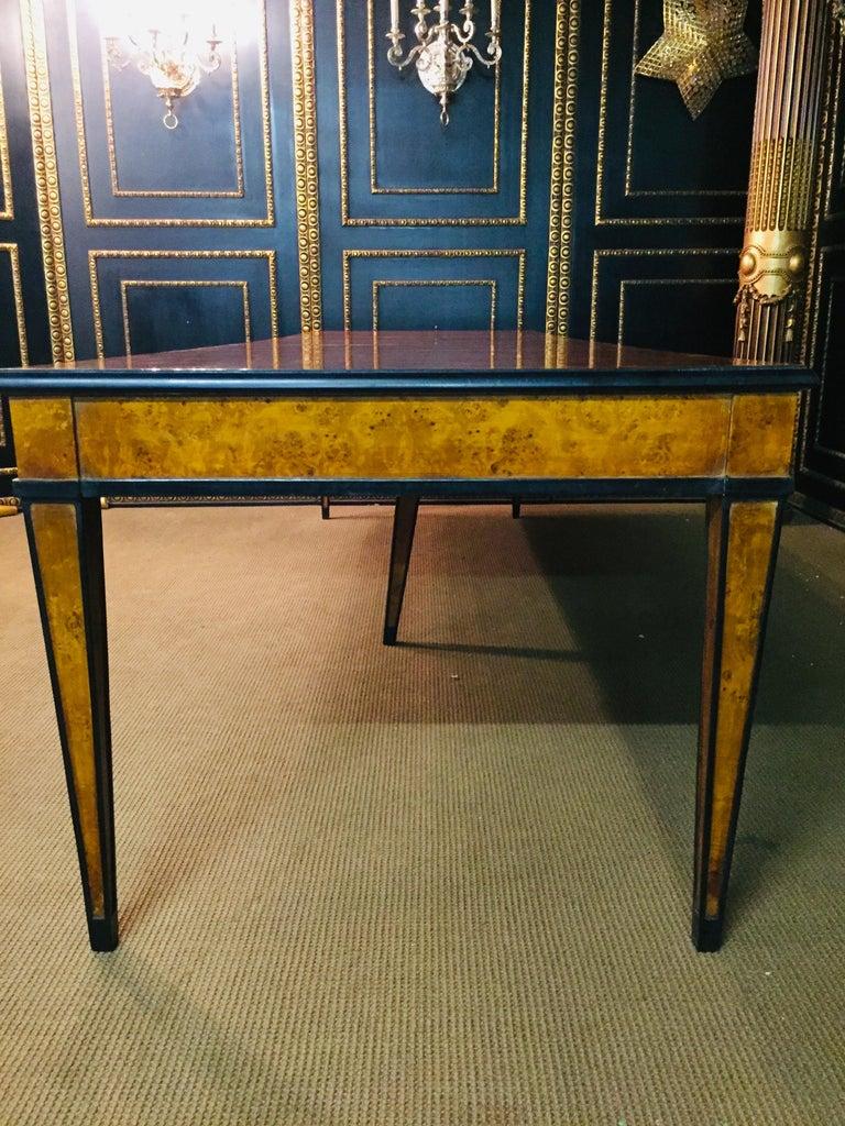 Extending Table in Biedermeier Style Bird's-Eye Maple For Sale 4