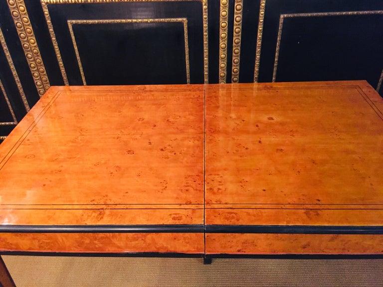Extending Table in Biedermeier Style Bird's-Eye Maple For Sale 9