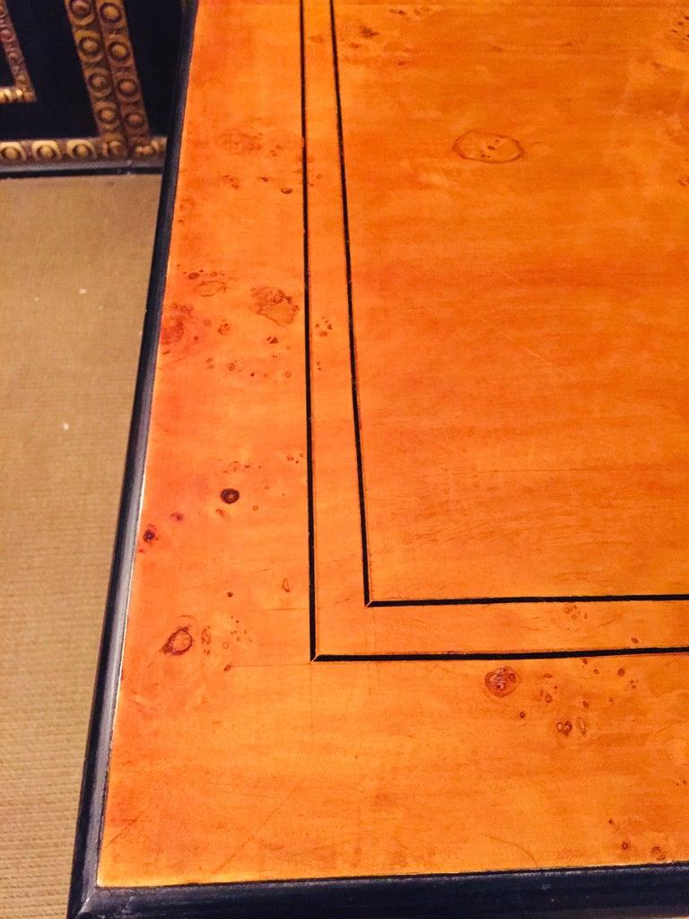 Extending Table in Biedermeier Style Bird's-Eye Maple For Sale 10
