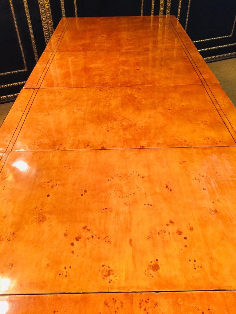 Extending Table in Biedermeier Style Bird's-Eye Maple For Sale 1