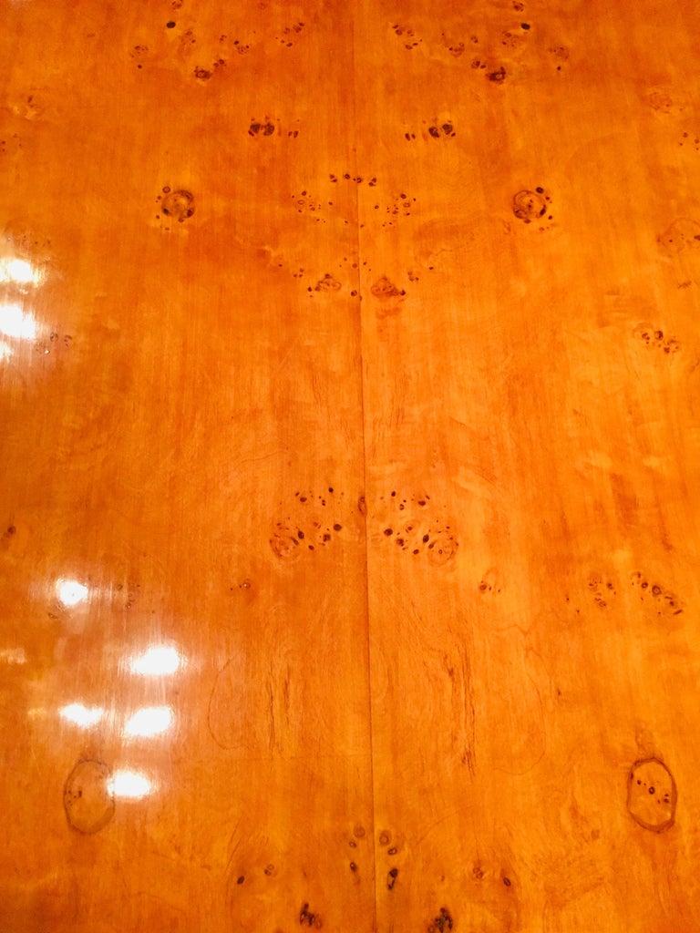 Extending Table in Biedermeier Style Bird's-Eye Maple For Sale 2