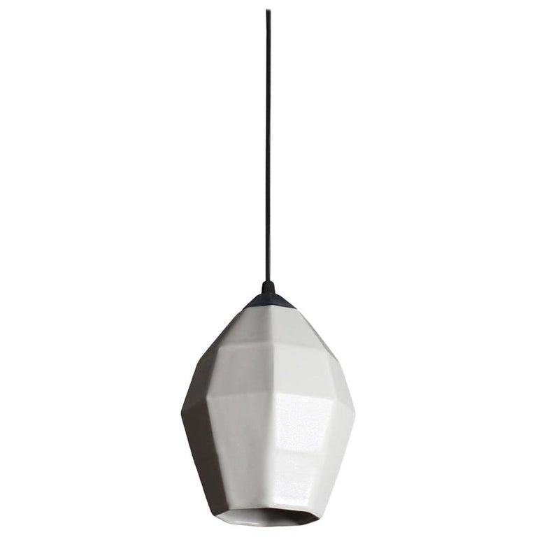 Extension 1 Contemporary Hanging Pendant Diffuser White Translucent Porcelain For Sale