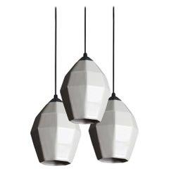 Extension 1 Contemporary Hanging Pendant Light Cluster Translucent Porcelain