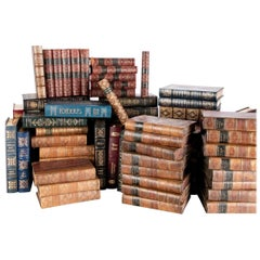 Extensive Book Lot with Several Leather-Bound Sets