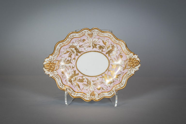 Extensive English Porcelain Dessert Service, circa 1825 For Sale 9