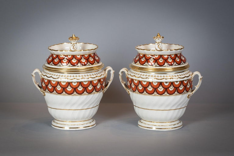 Extensive English Porcelain Dessert Service, Flight and Barr, circa 1792 In Good Condition For Sale In New York, NY