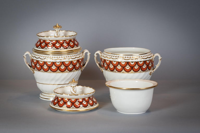 Late 18th Century Extensive English Porcelain Dessert Service, Flight and Barr, circa 1792 For Sale