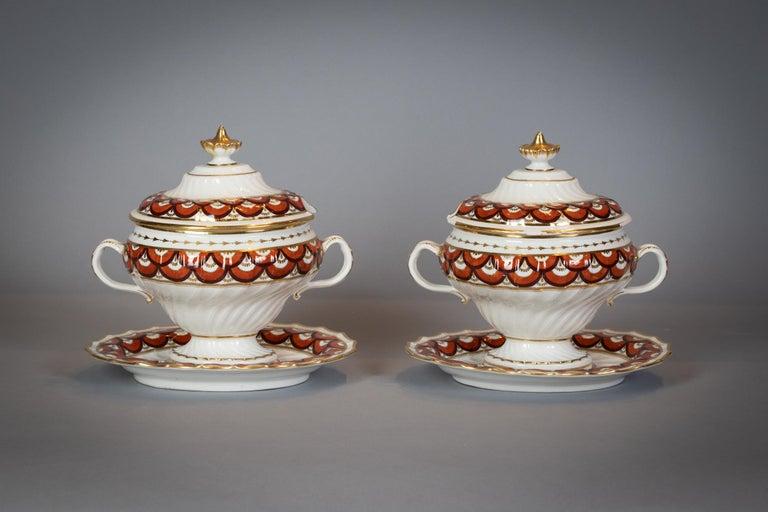 Extensive English Porcelain Dessert Service, Flight and Barr, circa 1792 For Sale 2