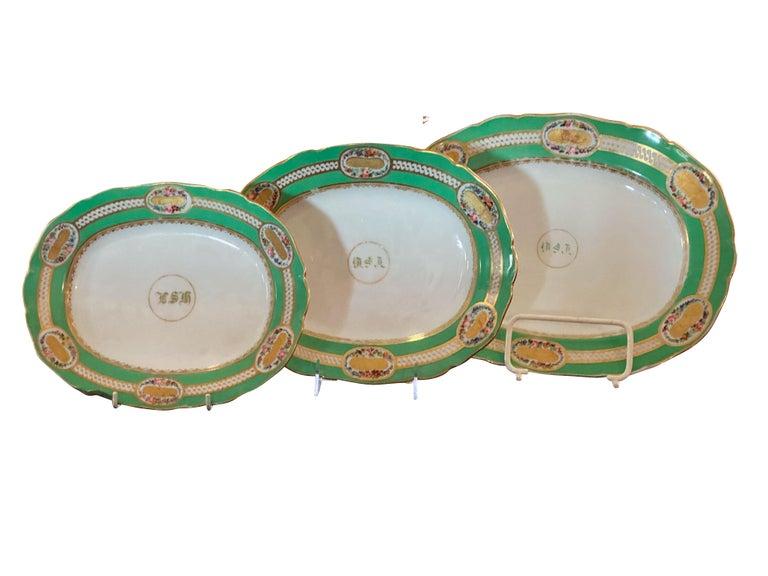 Extensive Paris Porcelain Dinner Service For Sale 7