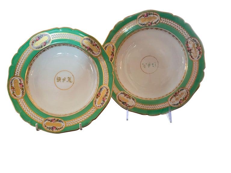 Extensive Paris Porcelain Dinner Service For Sale 9