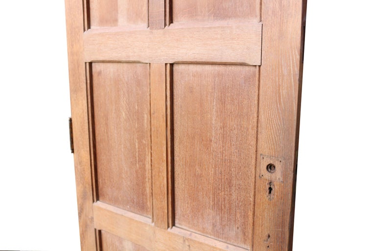 Early 20th Century Exterior English Oak Six-Panel Door For Sale