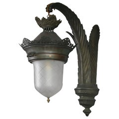 Extra Large 19th Century Bronze Wall Lantern Palais Du Justice, Brussel