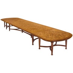 Extra Large Oak Conference Table, circa 1925