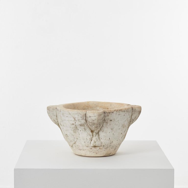 Italian Extra Large Antique Marble Mortar, Italy, circa 1600s For Sale