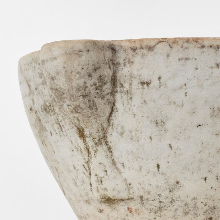 18th Century and Earlier Extra Large Antique Marble Mortar, Italy, circa 1600s For Sale