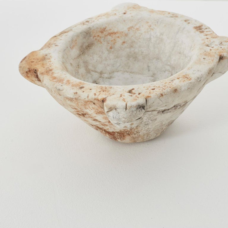 Small Antique Marble Mortar, Italy, circa 1700s In Good Condition For Sale In London, GB