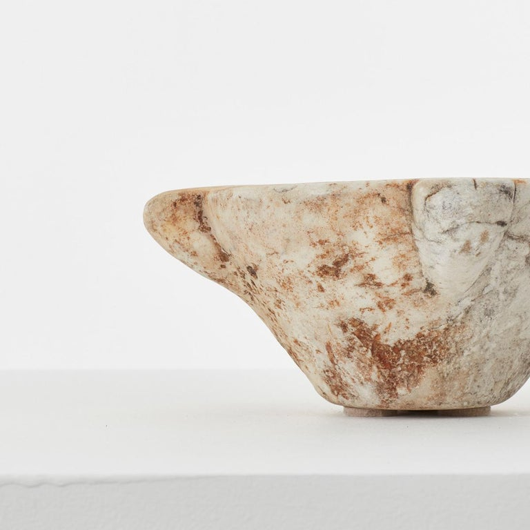 18th Century and Earlier Small Antique Marble Mortar, Italy, circa 1700s For Sale