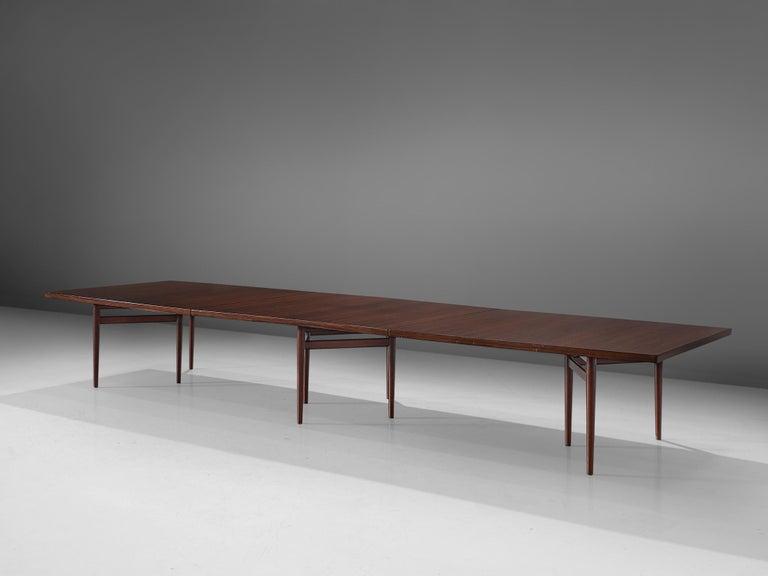 Scandinavian Modern Extra Large Arne Vodder Dining Table in Rosewood For Sale