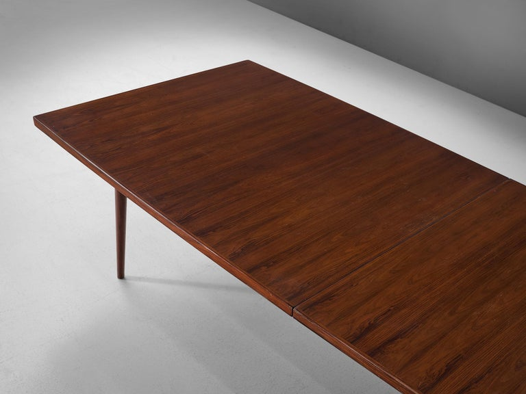 Mid-20th Century Extra Large Arne Vodder Dining Table in Rosewood For Sale