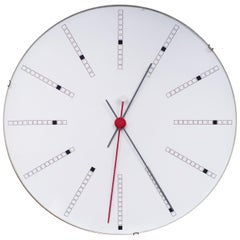 Extra Large Bankers Wall Clock by Arne Jacobsen