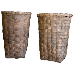 Extra Large Baskets From Portugal, circa 1950