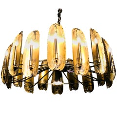 Extra Large Brutalist Chandelier by Tom Greene for Feldman